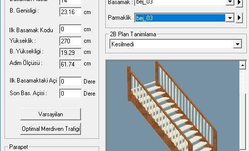 Düz merdiven parametreleri